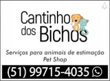 Cantinho dos Bichos - Serviços com animais de estimação - Pet Shop - Vera Cruz - RS - B4