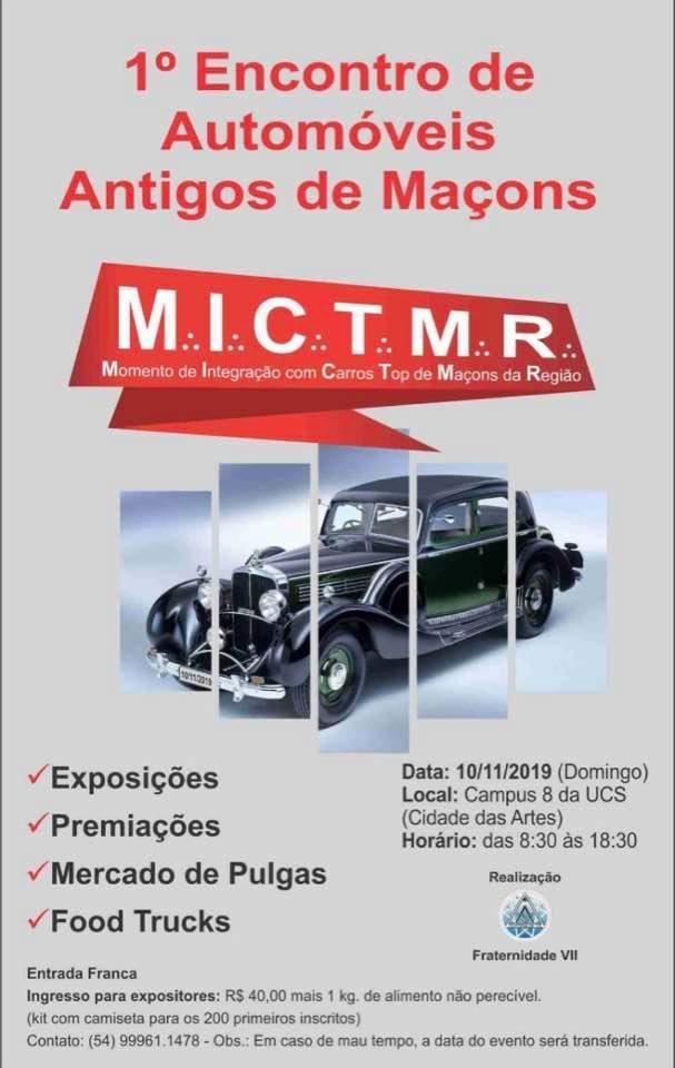 1º Encontro de Automóveis Antigos da Maçonaria