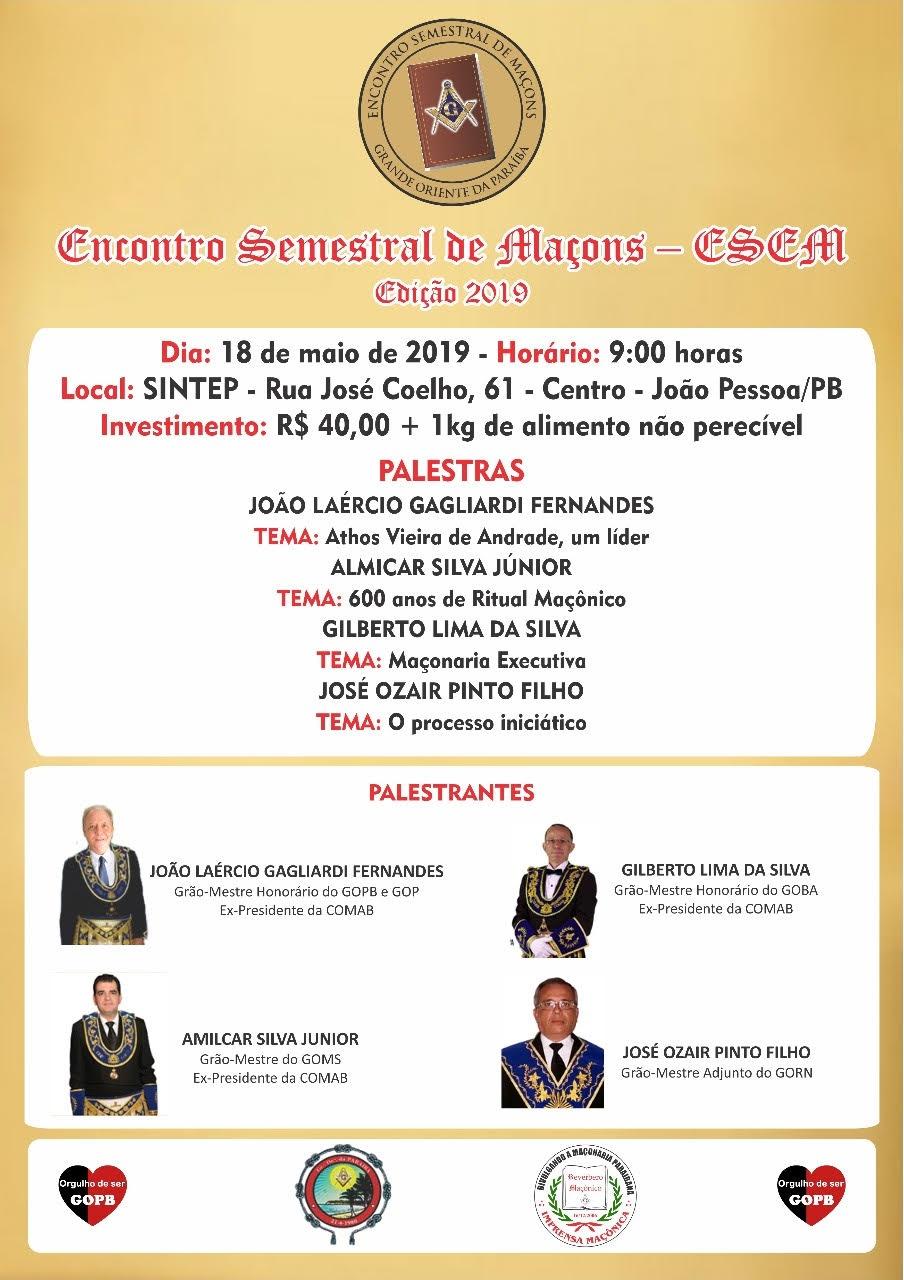 Encontro Semestral Maçônico - 2019