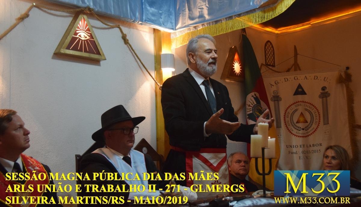 Sessão Magna Pública Dia das Mães 2019 - Loja União e Trabalho II - 271 - GLMERGS - Silveira Martins/RS Parte 1
