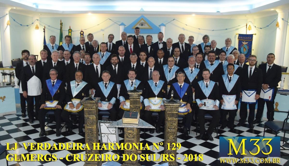 Loja Verdadeira Harmonia 129 - Cruzeiro do Sul/RS - Sessão de Instalação e Posse