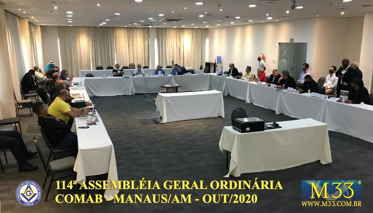 114ª ASSEMBLEIA GERAL ORDINÁRIA COMAB - MANAUS/AM - OUT/2020 PARTE 2