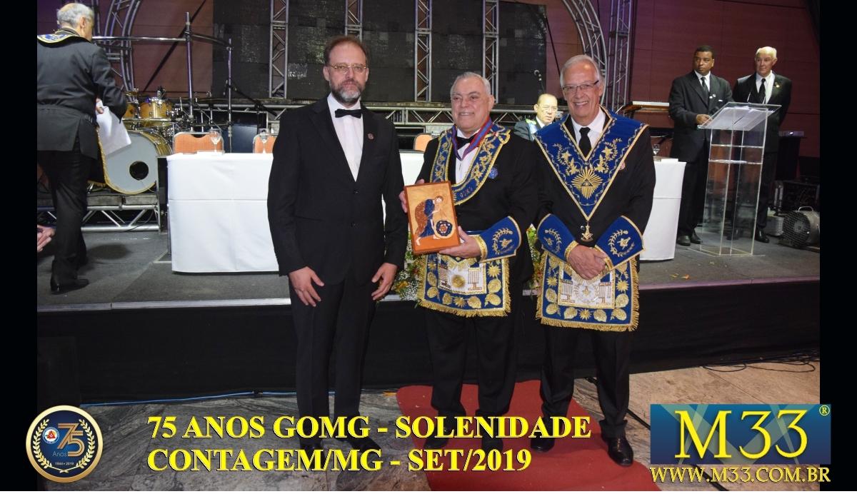 SOLENIDADE DOS 75 ANOS DO GRANDE ORIENTE DE MINAS GERAIS - GOMG - SET/2019 PARTE 06