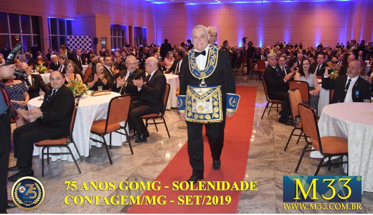 SOLENIDADE DOS 75 ANOS DO GRANDE ORIENTE DE MINAS GERAIS - GOMG - SET/2019 PARTE 02