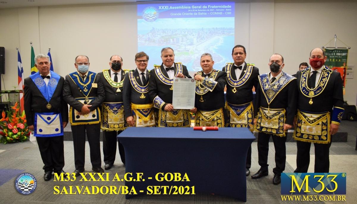 XXXI ASSEMBLEIA GERAL FRATERNA DO GRANDE ORIENTE DA BAHIA - GOBA - SALVADOR/BA - SET/21 - 1 TRATADOS PARTE 3