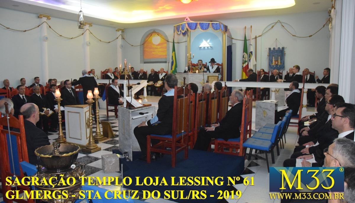 Sagração do Templo da Loja Lessing nº 61 - GLMERGS - Santa Cruz do Sul/RS - Out/2019 Parte 2