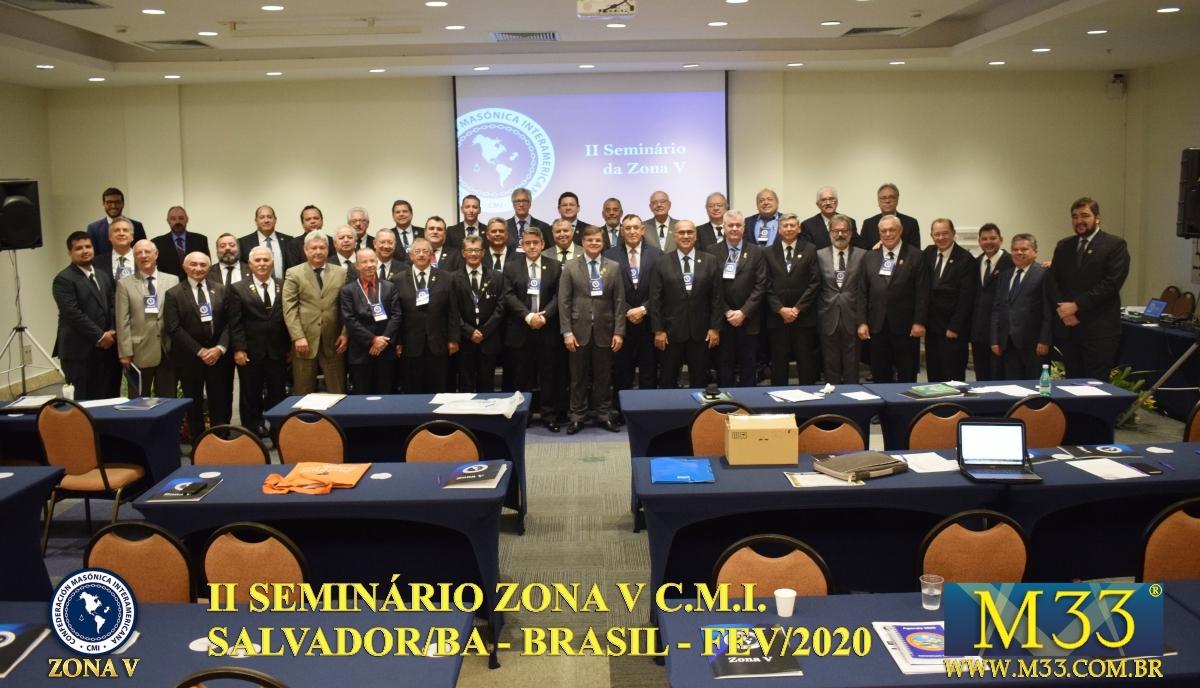II Seminário da Confederação Maçônica Interamericana - CMI - Zona V - Salvador/BA - Brasil - Jan/2020 Parte 1