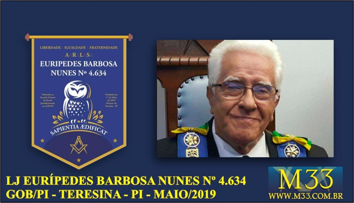 Loja Eurípedes Barbosa Nunes nº 4.634 é fundada no GOB-PI