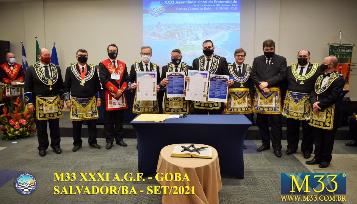 XXXI ASSEMBLEIA GERAL FRATERNA DO GRANDE ORIENTE DA BAHIA - GOBA - SALVADOR/BA - SET/21 - 2 ABERTURA PARTE 4