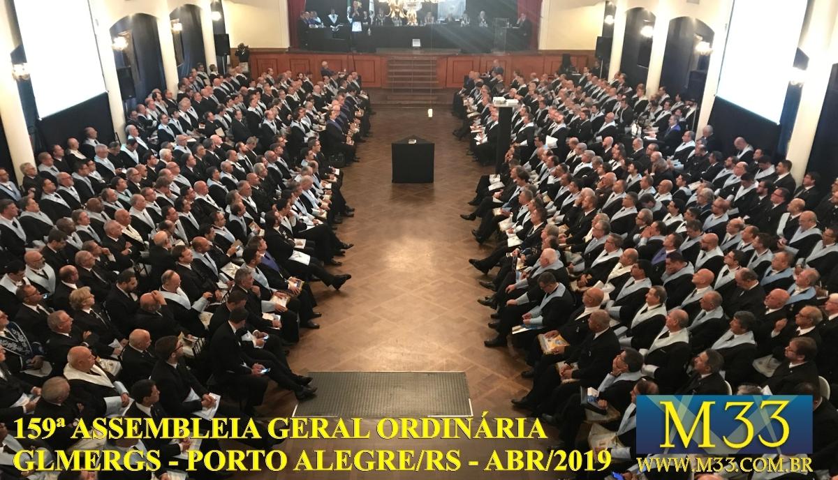 159ª ASSEMBLEIA GERAL ORDINÁRIA GLMERGS - PORTO ALEGRE/RS ABR/2019 PARTE 1