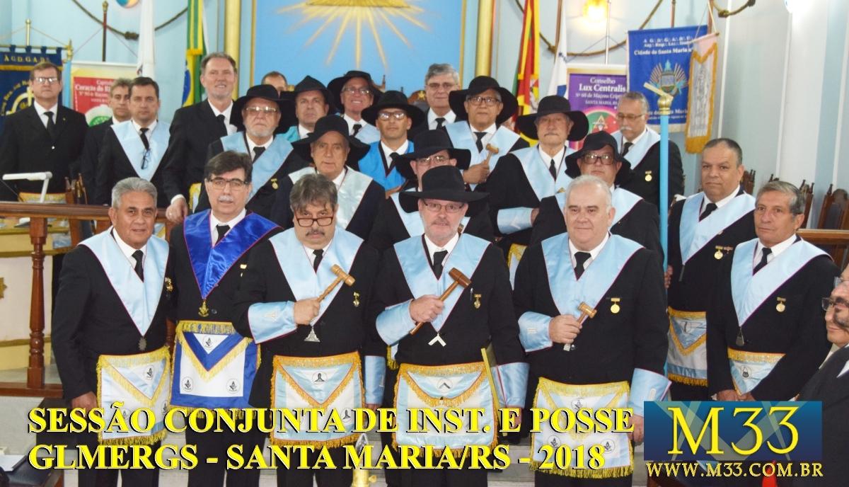 Sessão Conjunta de Instalação e Posse Região Centro GLMERGS - Santa Maria/RS