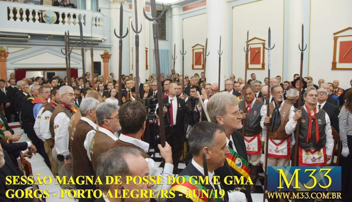 SESSÃO MAGNA DE POSSE DO GRÃO-MESTRE E GRÃO-MESTRE ADJUNTO GORGS - PORTO ALEGRE/RS - JUN/2019 PARTE 4