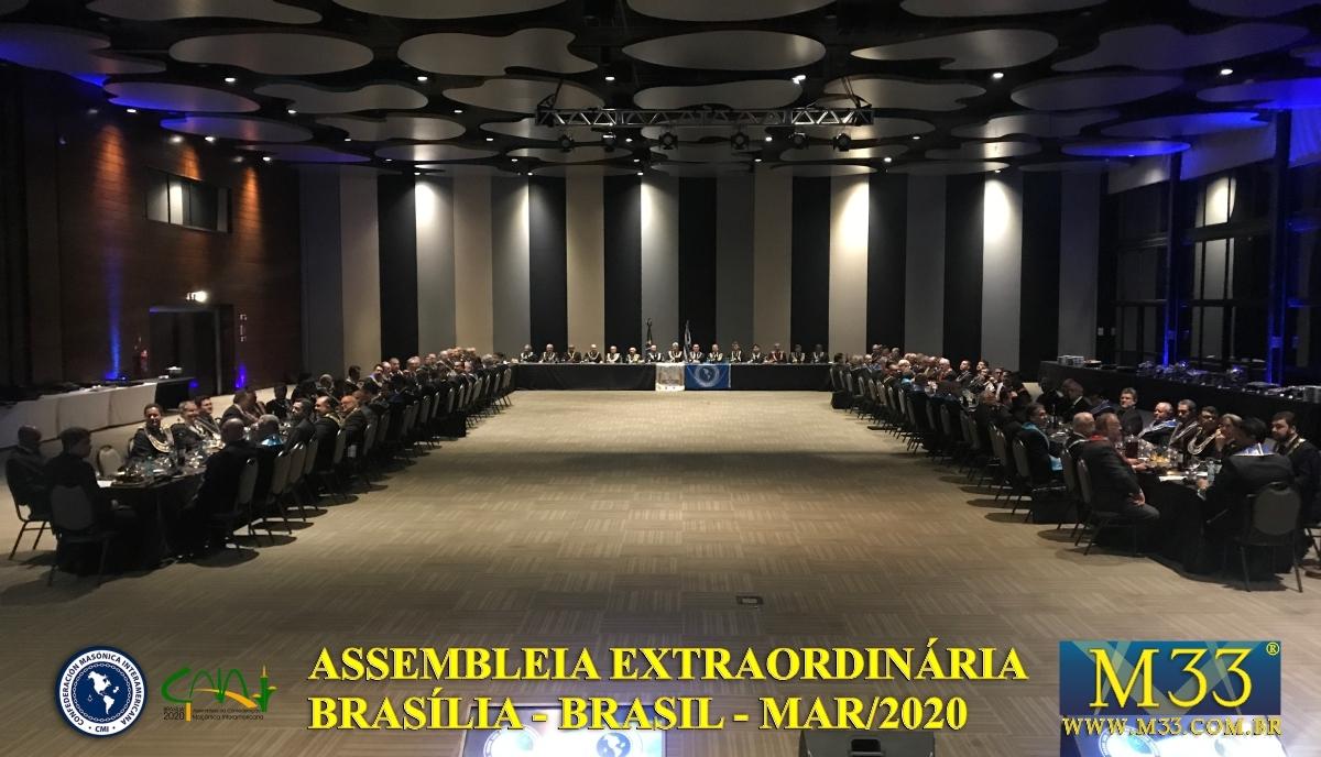 Assembleia Extraordinária da Confederação Maçônica Interamericana CMI Brasília Brasil - Março 2020 Parte 04 Banquete Ritualístico