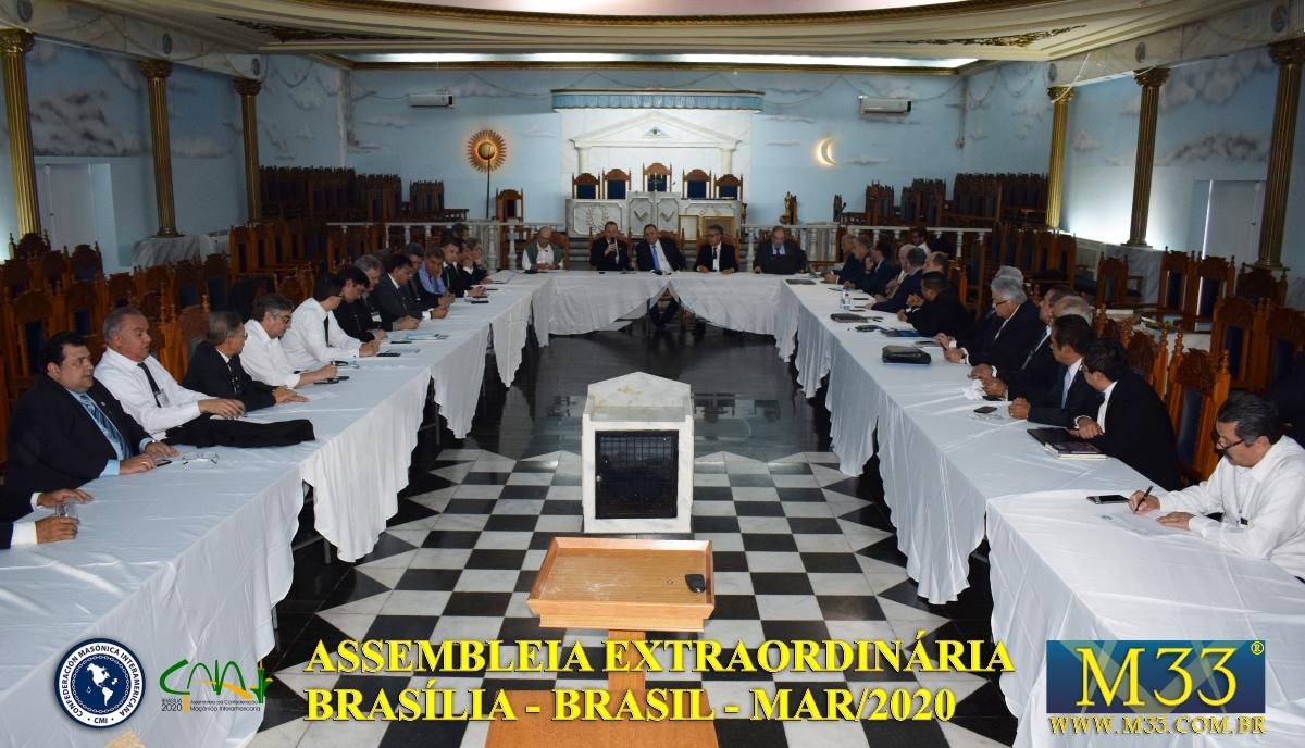 Assembleia Extraordinária da Confederação Maçônica Interamericana CMI Brasília Brasil - Março 2020 Parte 21 Fórum de Relações Exteriores