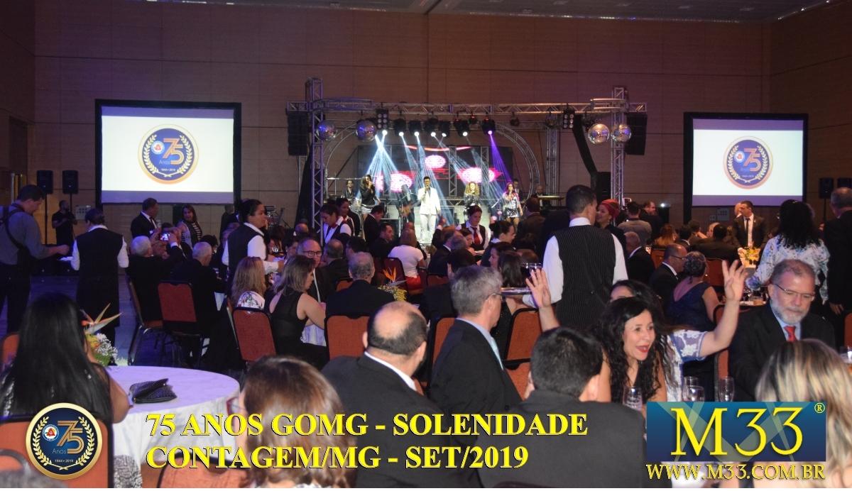 SOLENIDADE DOS 75 ANOS DO GRANDE ORIENTE DE MINAS GERAIS - GOMG - SET/2019 PARTE 08