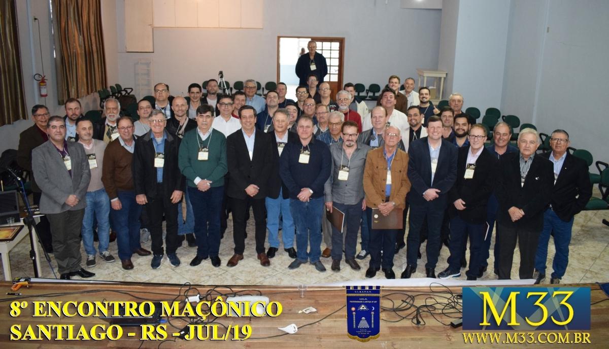 8º ENCONTRO MAÇÔNICO SANTIAGO - RS - JULHO 2019 PARTE 1