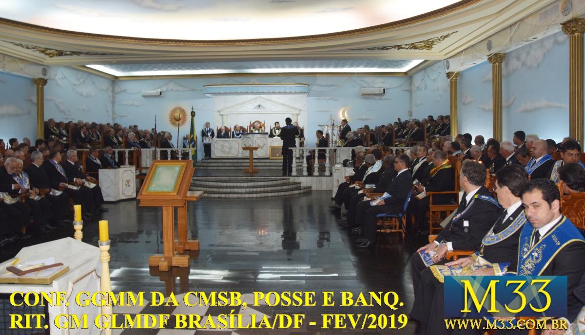 Conferência GGMM CMSB, Posse e Banquete Ritualístico GM GLMDF Fev 2019 Part2