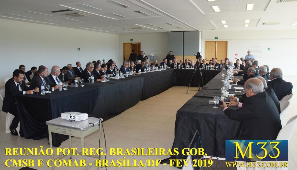 Reunião das Potências Regulares Brasileiras GOB, CMSB e COMAB - Brasília/DF - Fev/2019 Part1