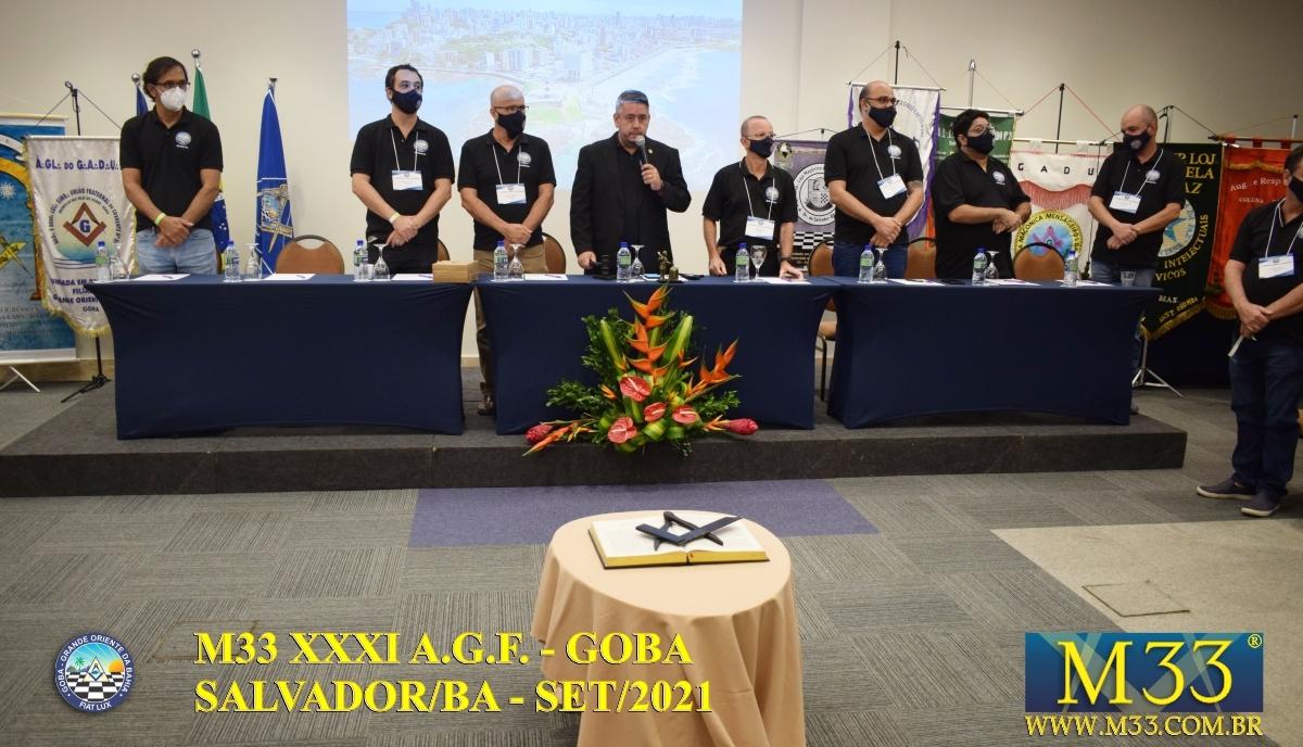 XXXI ASSEMBLEIA GERAL FRATERNA DO GRANDE ORIENTE DA BAHIA - GOBA - SALVADOR/BA - SET/21 - 3 PLENÁRIA GOBA PARTE 1