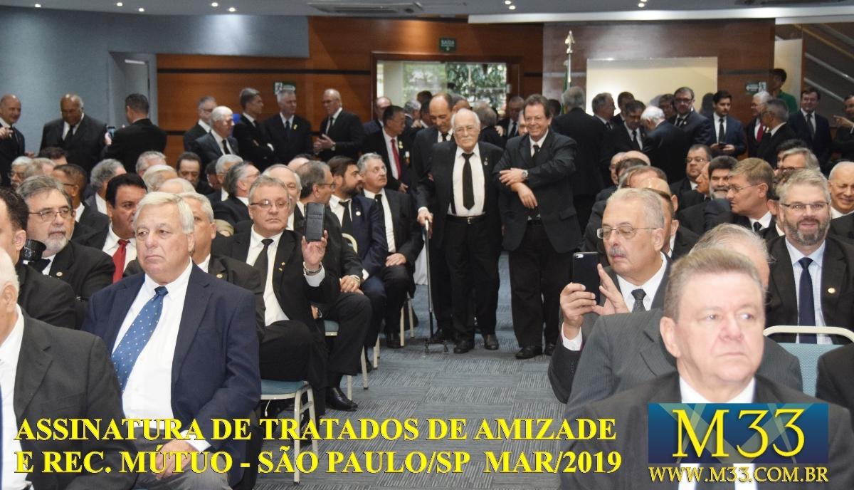 Assinatura de Tratados de Amizade e Reconhecimento Mútuo - São Paulo SP - Março 2019 Part 4