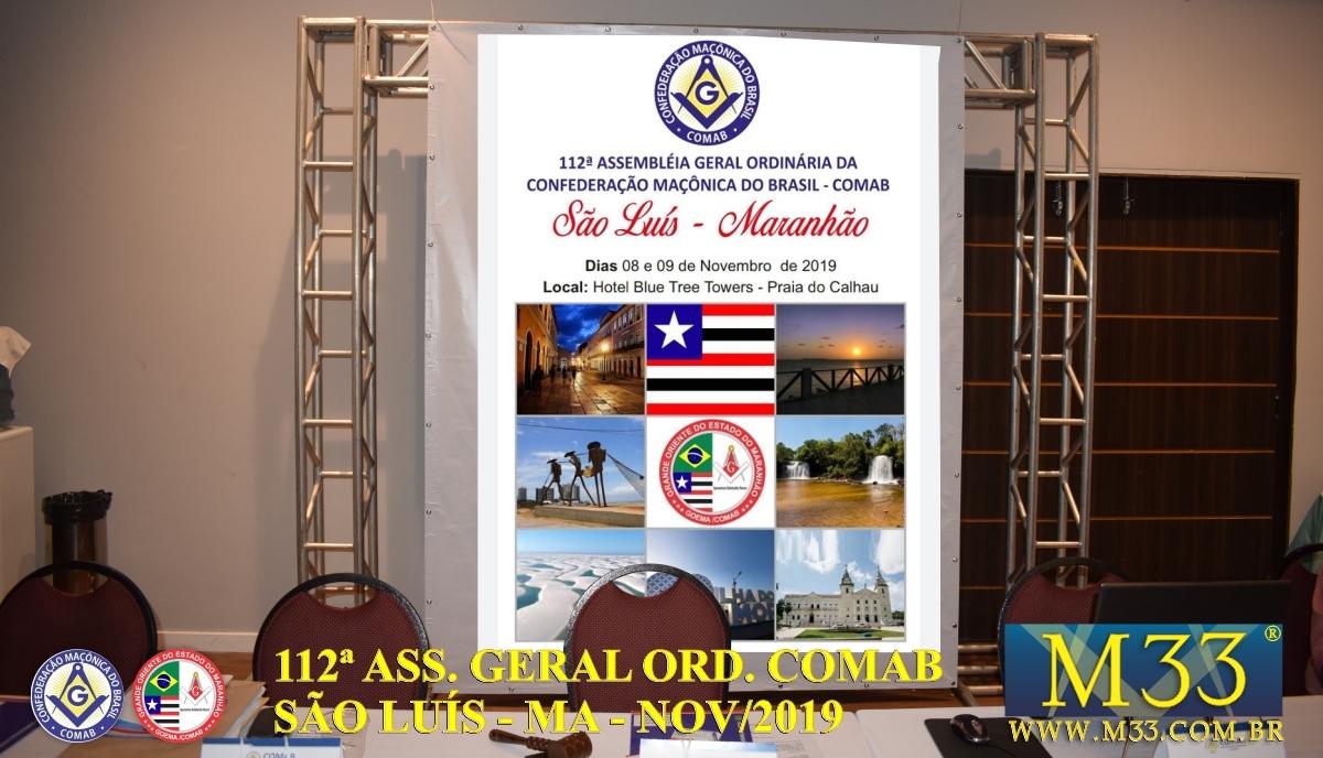 112ª ASSEMBLEIA GERAL ORDINÁRIA COMAB - SÃO LUÍS/MA NOV/2019 PARTE 1