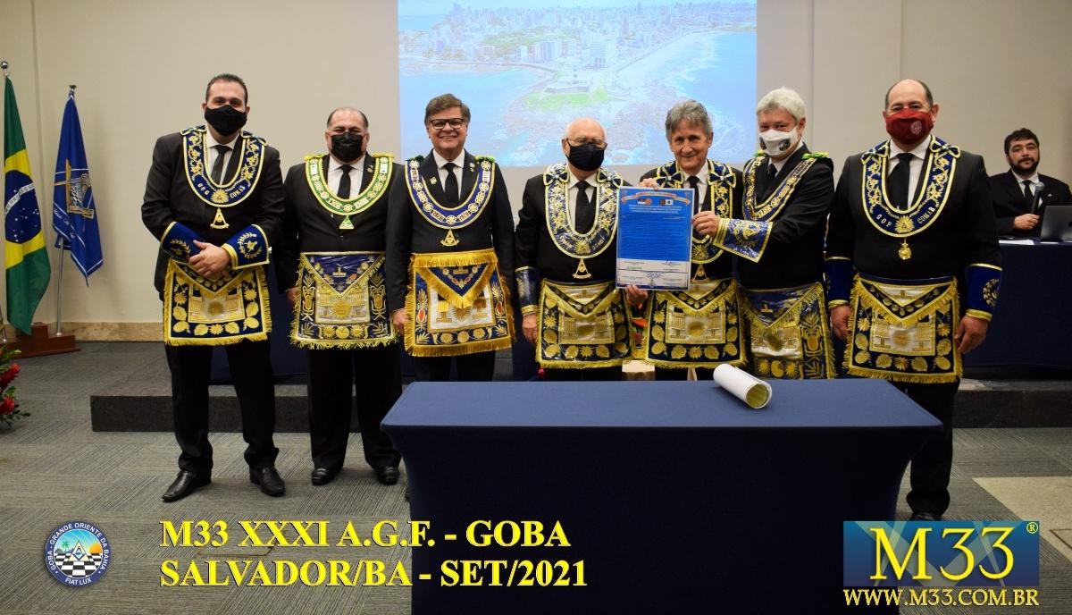 XXXI ASSEMBLEIA GERAL FRATERNA DO GRANDE ORIENTE DA BAHIA - GOBA - SALVADOR/BA - SET/21 - 1 TRATADOS PARTE 4