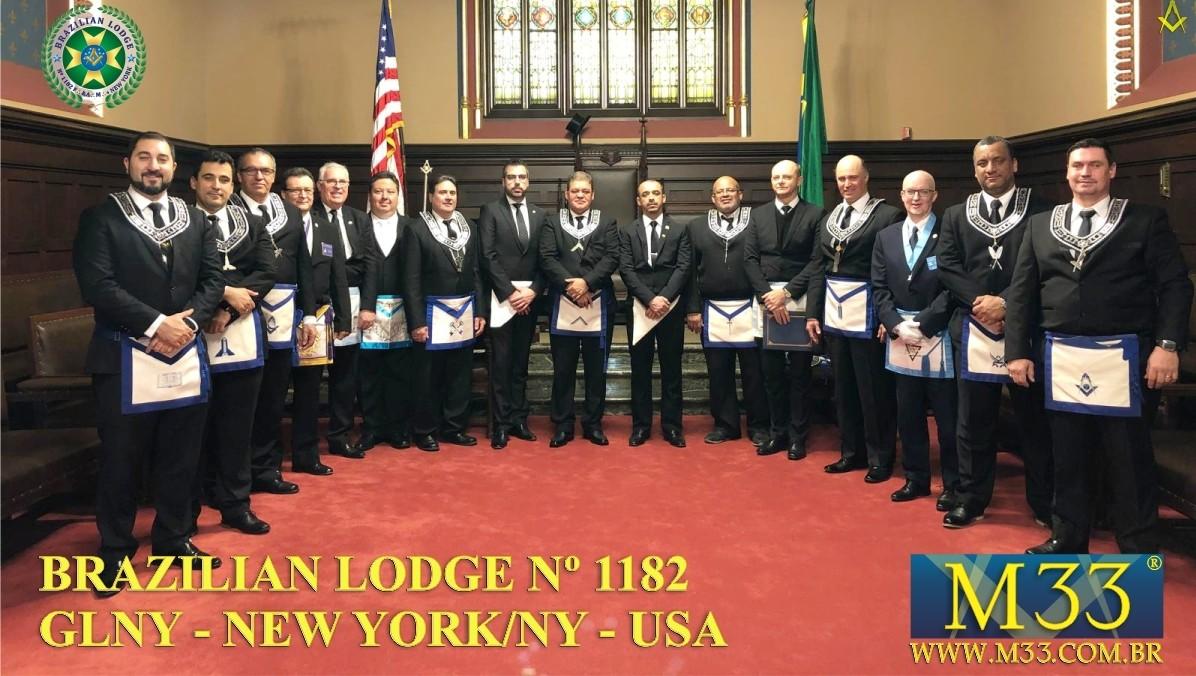 Brazilian Lodge n⁰ 1182 – Uma parte do Brasil em Nova Iorque (EUA)