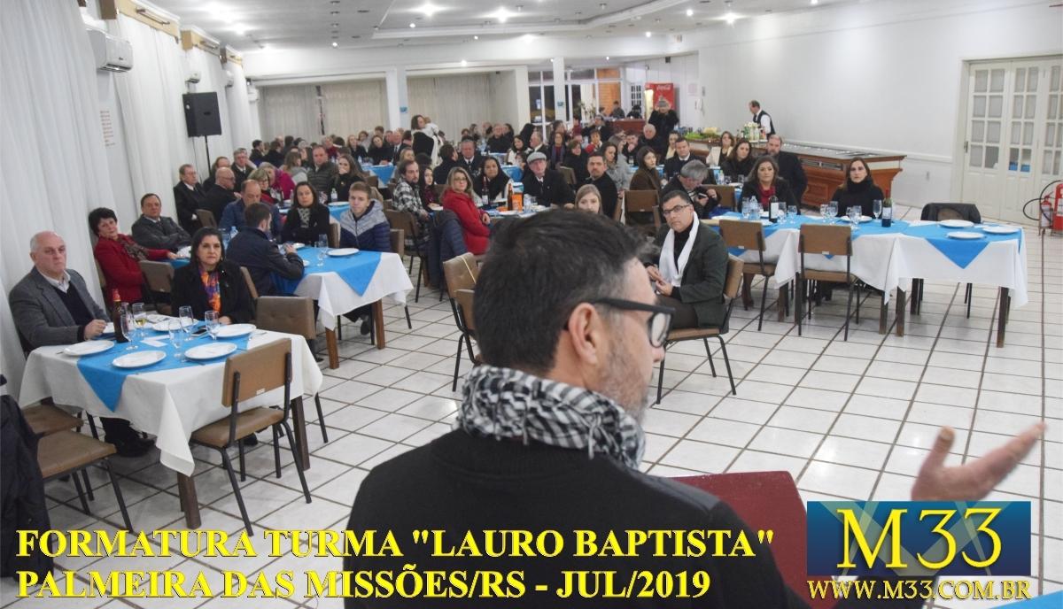 """FORMATURA TURMA \""""LAURO BAPTISTA\"""" CURSO DE FILOSOFIA E FUNDAMENTAÇÃO MAÇÔNICA EM PALMEIRAS DAS MISSÕES/RS - JULHO 2019 - PARTE 3"""