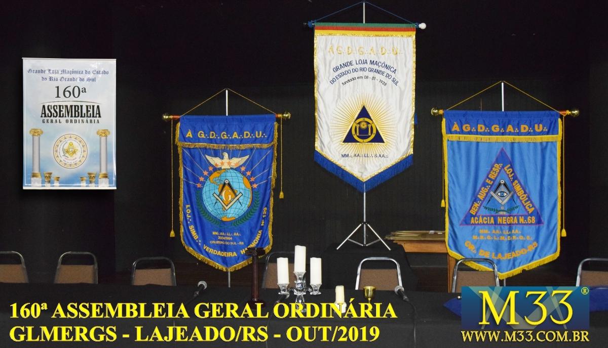160ª ASSEMBLEIA GERAL ORDINÁRIA GLMERGS - LAJEADO/RS OUT/2019 PARTE 1