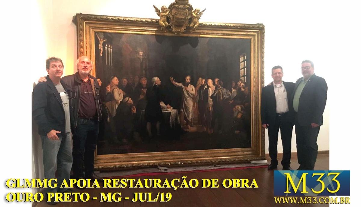 Grande Loja Maçônica de Minas Gerais formaliza patrocínio com Museu da Inconfidência de Ouro Preto (MG)