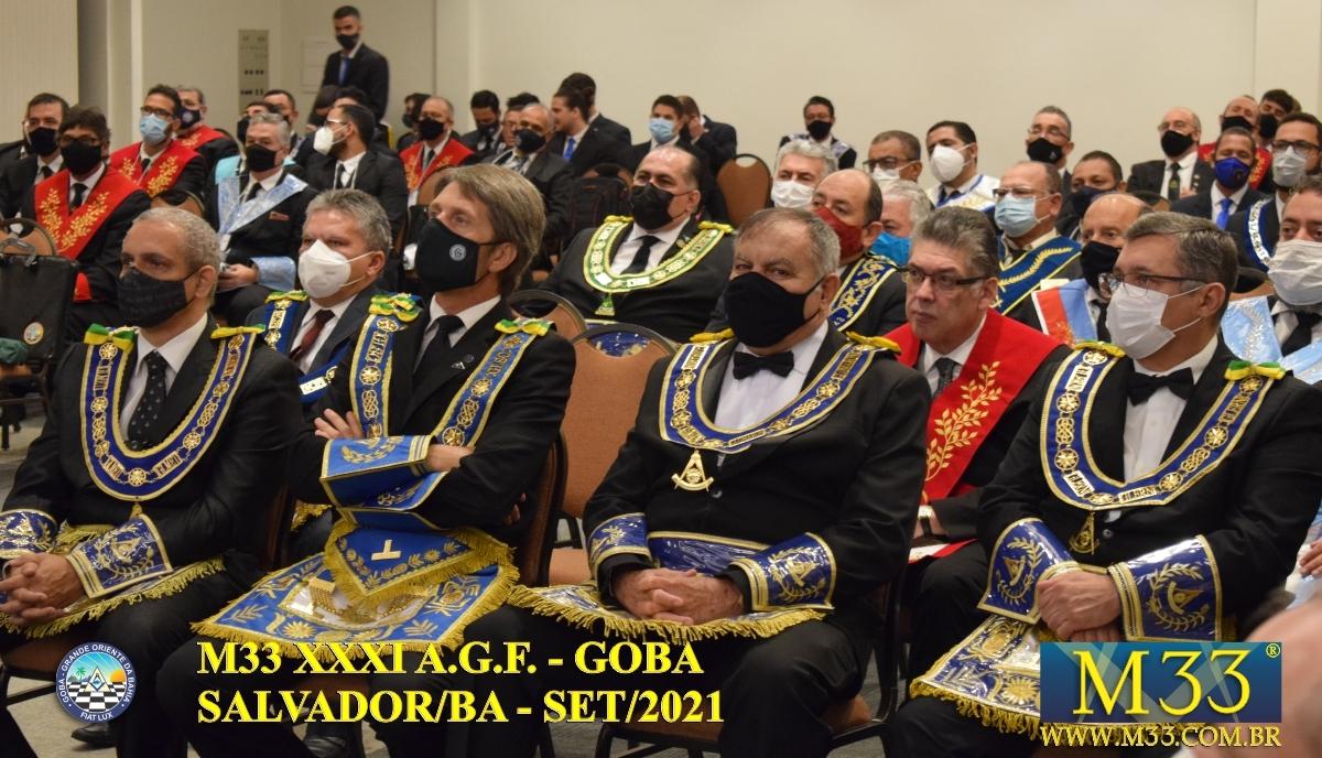XXXI ASSEMBLEIA GERAL FRATERNA DO GRANDE ORIENTE DA BAHIA - GOBA - SALVADOR/BA - SET/21 - 2 ABERTURA PARTE 2
