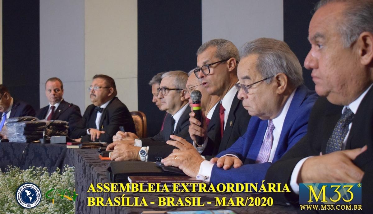Assembleia Extraordinária da Confederação Maçônica Interamericana CMI Brasília Brasil - Março 2020 Parte 16 Deliberações