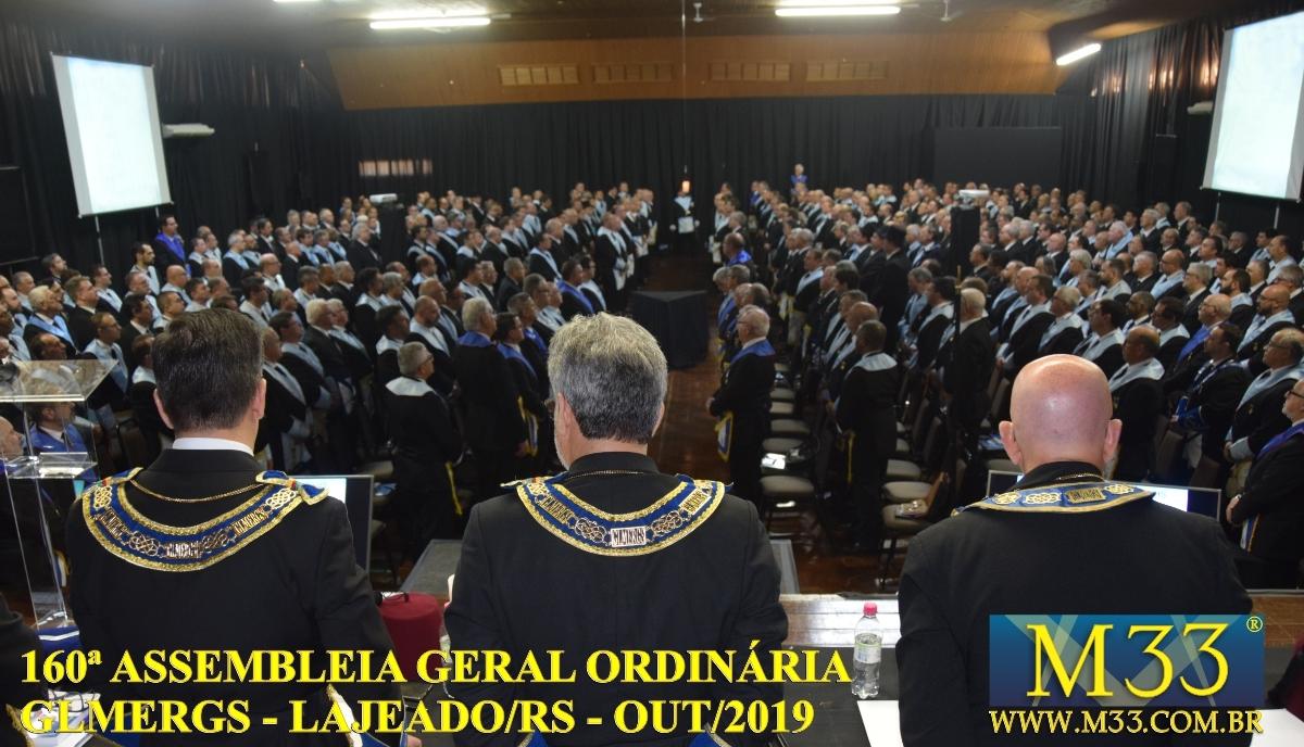 160ª ASSEMBLEIA GERAL ORDINÁRIA GLMERGS - LAJEADO/RS OUT/2019 PARTE 3