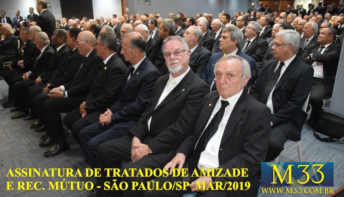 Assinatura de Tratados de Amizade e Reconhecimento Mútuo - São Paulo SP - Março 2019 Part 3