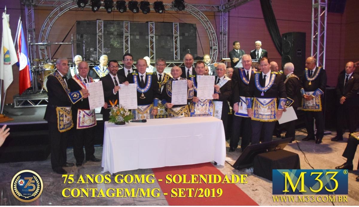 SOLENIDADE DOS 75 ANOS DO GRANDE ORIENTE DE MINAS GERAIS - GOMG - SET/2019 PARTE 05