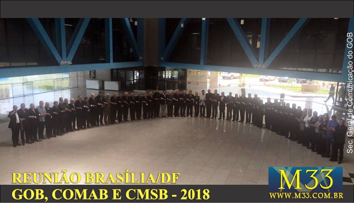 União da Maçonaria Brasileira - Reunião na Sede do GOB
