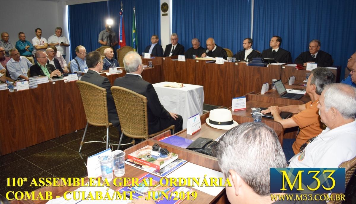 110ª ASSEMBLÉIA GERAL ORDINÁRIA COMAB - CUIABÁ/MT JUN/2019 PARTE 04