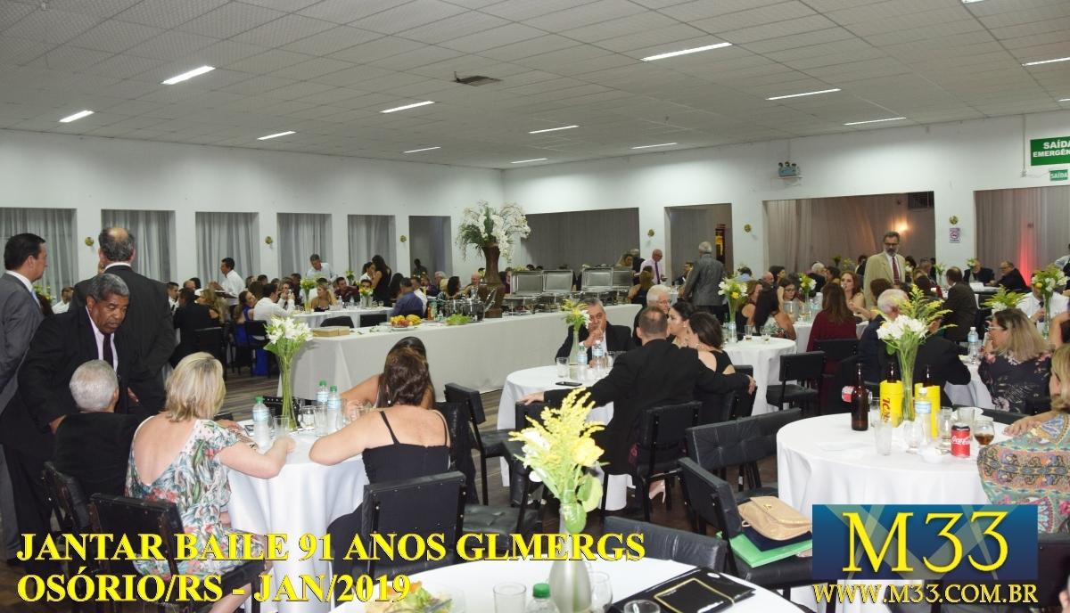 Jantar Baile 91 Anos GLMERGS Osório/RS 2019