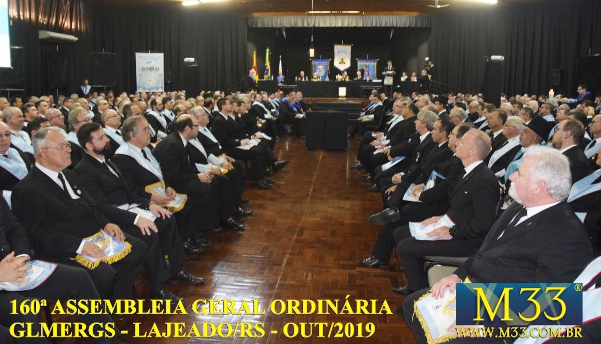 160ª ASSEMBLEIA GERAL ORDINÁRIA GLMERGS - LAJEADO/RS OUT/2019 PARTE 5