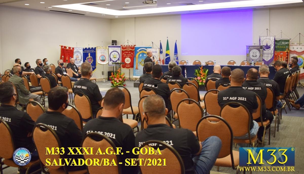 XXXI ASSEMBLEIA GERAL FRATERNA DO GRANDE ORIENTE DA BAHIA - GOBA - SALVADOR/BA - SET/21 - 3 PLENÁRIA GOBA PARTE 3