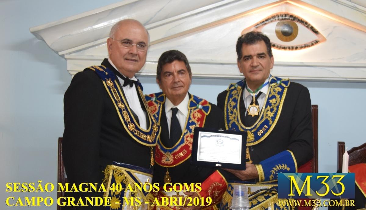 Sessão Magna 40 Anos do Grande Oriente de Mato Grosso do Sul - GOMS - abril/2019 - Campo Grande/MS - Parte 3