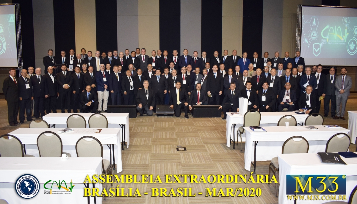 Assembleia Extraordinária da Confederação Maçônica Interamericana CMI Brasília Brasil - Março 2020 Parte 18 Deliberações