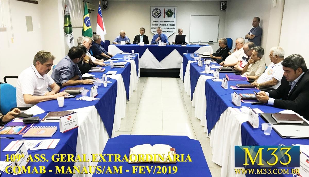 109ª Assembléia Geral Ordinária COMAB - Manaus/AM Fev/2019 Part4