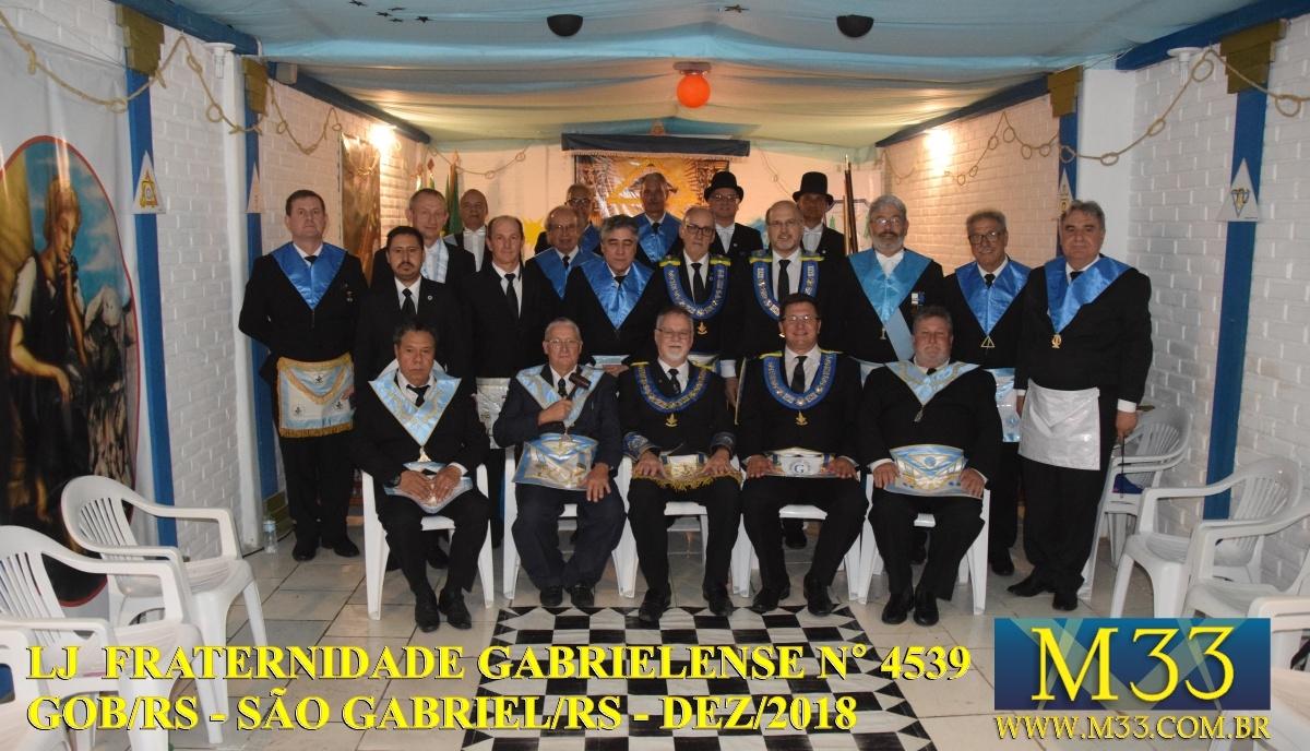 Sagração do Templo da Loja Fraternidade Gabrielense nº 4539 GOB/RS Dez/2018