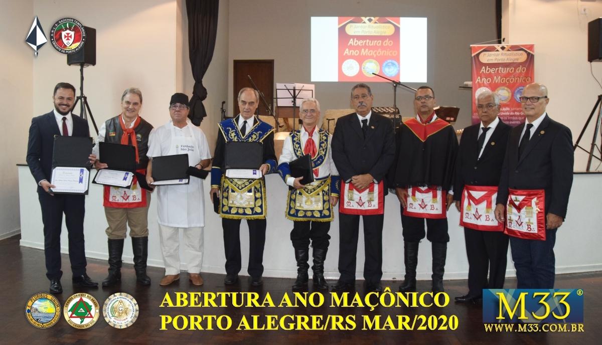 Abertura Ano Maçônico 2020 Banquete Ritualístico - Porto Alegre/RS Parte 3
