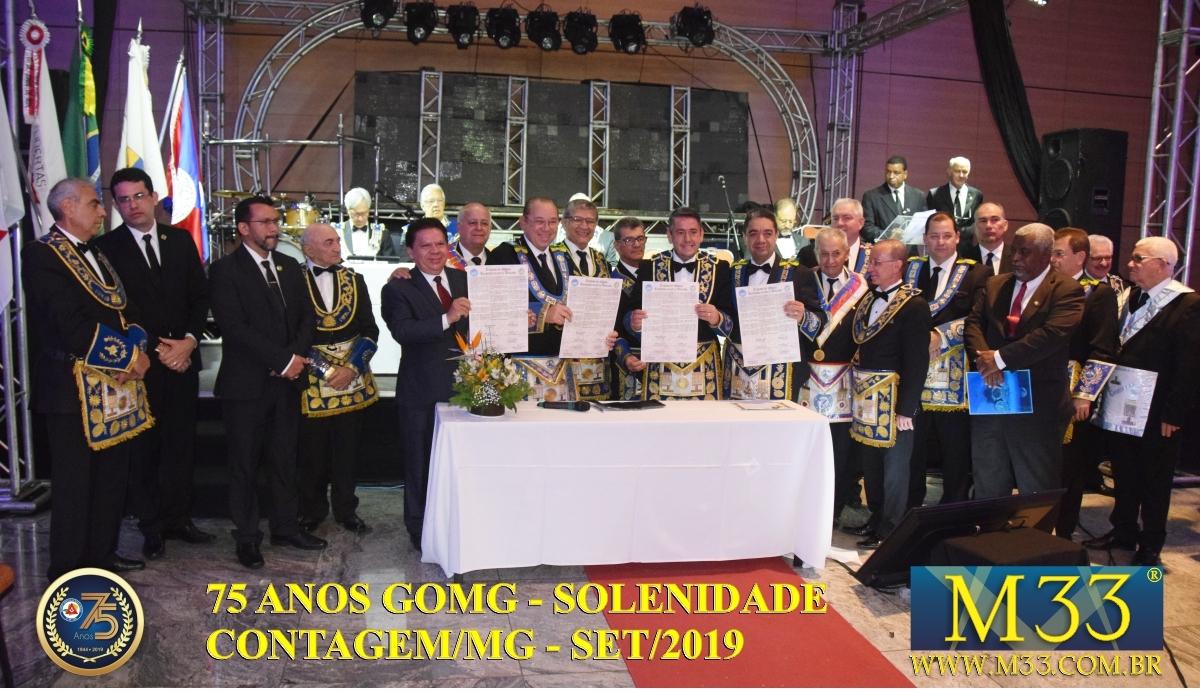 SOLENIDADE DOS 75 ANOS DO GRANDE ORIENTE DE MINAS GERAIS - GOMG - SET/2019 PARTE 04