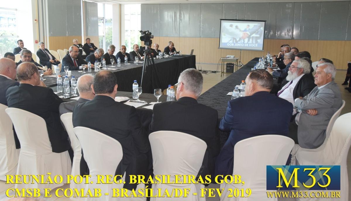 Reunião das Potências Regulares Brasileiras GOB, CMSB e COMAB - Brasília/DF - Fev/2019 Part2