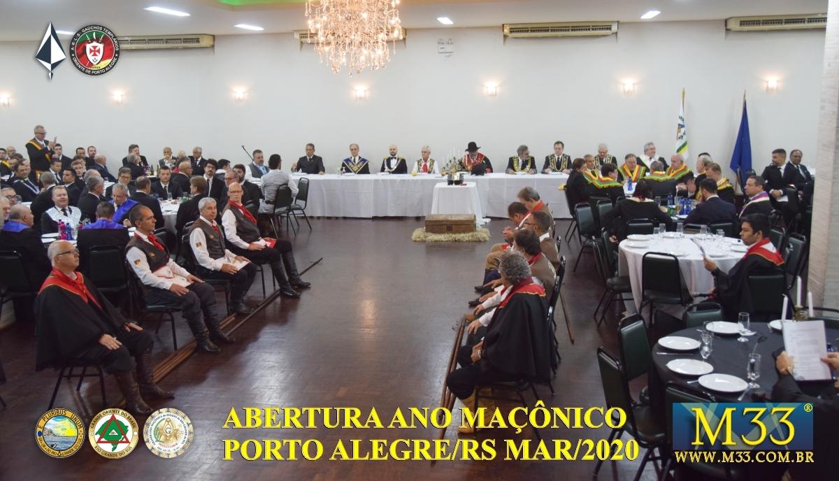 Abertura Ano Maçônico 2020 Banquete Ritualístico - Porto Alegre/RS Parte 2