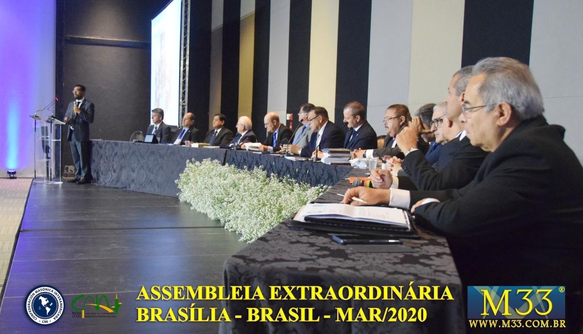 Assembleia Extraordinária da Confederação Maçônica Interamericana CMI Brasília Brasil - Março 2020 Parte 09 Palestras