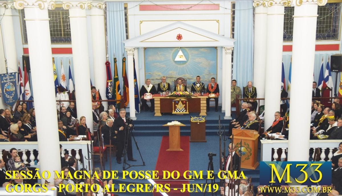 SESSÃO MAGNA DE POSSE DO GRÃO-MESTRE E GRÃO-MESTRE ADJUNTO GORGS - PORTO ALEGRE/RS - JUN/2019 PARTE 2